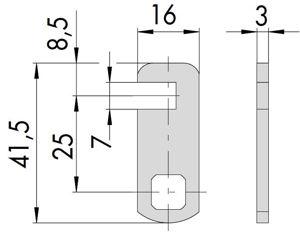 Afbeelding van Cisa lip t.b.v. inbouw cilinder