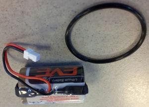 Afbeelding van Dom batterij met O-ring, protector