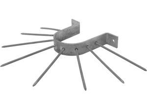 Afbeelding van Gb anti-klimbeugel, 39 x 3 mm, beugel 105 mm, thermisch gegalvaniseerd, verzinkt