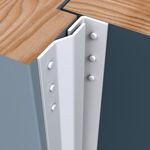 Afbeelding van Secu secustrip basic, 2050 mm, t.b.v. box-, bergings- en schuurdeuren, binnendraaiend, wit, ral 9010