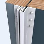Afbeelding van Secu secustrip basic, 2115 mm, terugligging 4-6 mm, t.b.v. box-, bergings- en schuurdeuren, buitendraaiend, wit, ral 9010