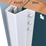 Afbeelding van Secu secustrip plus, 2115 mm, terugligging 0-6 mm, t.b.v achterdeuren, buitendraaiend, wit, ral 9010