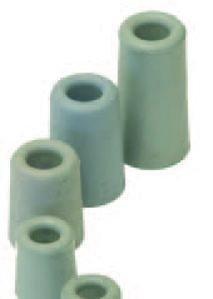 Afbeelding van Deurbuffer rubber, 40 x 75 mm, grijs
