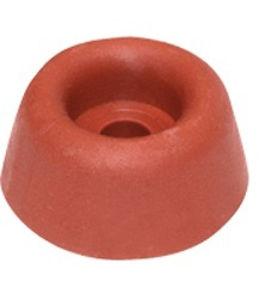 Afbeelding van Deurbuffer rubber, 40 x 75 mm, rood