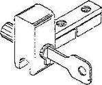 Afbeelding van Eindkap met slot, t.b.v. loopschoen, aluminium