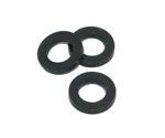 Afbeelding van Paumelle vulring, zwart, 14 x 8 mm, nylon