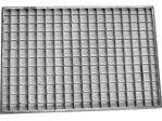 Afbeelding van Voetrooster, 100 x 100 cm, profiel 25 x 2 mm, maaswijdte 30 x 30 mm, thermisch gegalvaniseerd, verzinkt