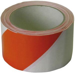 Afbeelding van Afzetband, 60 mm, 66 meter, zelfklevend, rood / wit