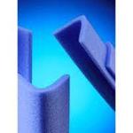 Afbeelding van Beschermingsprofiel foam, 100 x 2000 mm, u-profiel, blauw