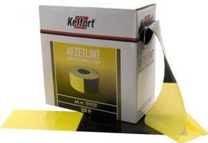 Afbeelding van Afzetlind, 80 mm, 500 meter, zwart, geel