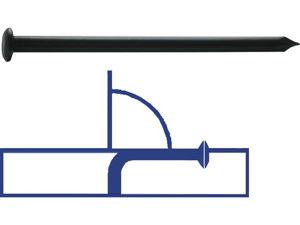 Afbeelding van Kelfort nagel, 2.5 x 30 mm, 1 kilo, bolle kop, blank, zwart, staal