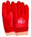 Afbeelding van Handschoen pvc rood tricot  manchet