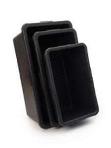 Afbeelding van Gripline bak 45l zwart rechthoekig