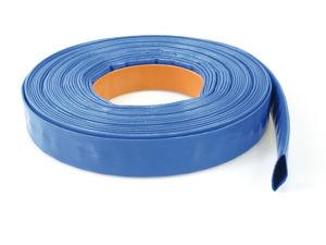 Afbeelding van Afvoerslang blauw plat pvc 38mm