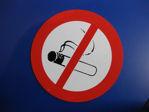Afbeelding van Bord pvc roken verboden       235mm