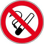 Afbeelding van Arbo bord pvc roken verb.200mm