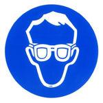 Afbeelding van Sticker oogbescherming dragen  15cm