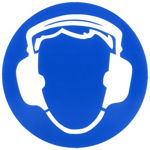 Afbeelding van Sticker oorbescherming dragen 15cm
