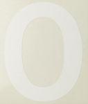 Afbeelding van Pickup cijfer 0 wit , 80 mm