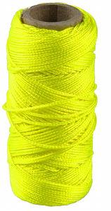 Afbeelding van Metselkoord fluor geel 1mm 50m