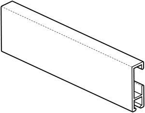 Afbeelding van Schilderij cliprail wit       200cm