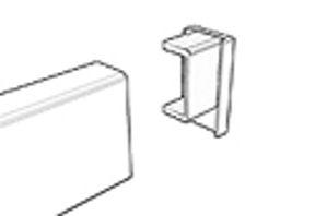 Afbeelding van Schilderij cliprail eindkap wit