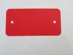 Afbeelding van Label kunststof rood     55x110x0.2