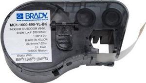 Afbeelding van Brady labelrol   mc1-1000-595-yl-bk