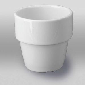 Afbeelding van Melkbeker porselein 17cl        wit