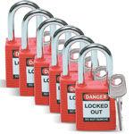 Afbeelding van Brady lockout tagout hangslot  rood