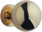 Afbeelding van Fm deurknop vast Sfero mess/ong