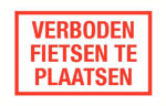 Afbeelding van Bord verboden fietsen te plaatsen