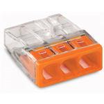 Afbeelding van Lasklem wago 3p transparant/oranje (100st)
