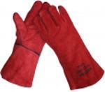 Afbeelding van Lashandschoen welder rood      35cm