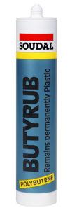 Afbeelding van Soudal butyleenkit zwart, 310 ml, butyrub