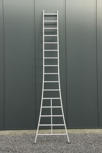 Afbeelding van Das ladder met gebogen benen   1x10