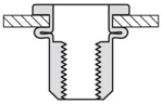 Afbeelding van Mastergrip blindklinkmoer rvsA2, M6, MFX cilinder kop,klembereik 3.0-5.5mm