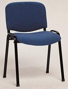 Afbeelding van Bezoekersstoel blauw stof