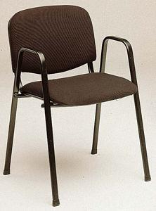 Afbeelding van Bezoekersstoel blauw  met armlegger