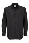 Afbeelding van B&C overhemd oxfort zwart lm      L