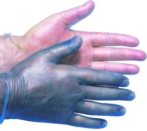 Afbeelding van Wegwerphandschoen blauw 100st     s