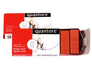 Afbeelding van Quantore nieten koperkleur 24/6 , 22850600