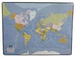Afbeelding van Esselte onderlegger 40x53cm met wereldkaart, 32184