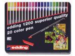Afbeelding van Edding fineliner 1200, 0.5 - 1 mm, 3421000, verpakking 20 stuks, assortiment