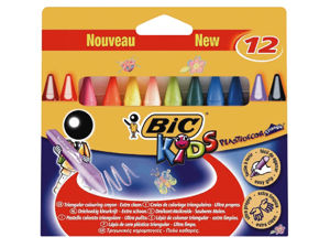 Afbeelding van Bic kleurkrijt kids, 3 kantig, 829773, plastidecor, assortiment