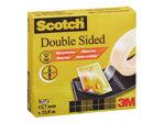 Afbeelding van 3M scotch plakband, 12 mm, 22.8 meter, 6651223, dubbelzijdig