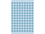 Afbeelding van Herma etiket rond, 8 mm, verpakking 540 stuks, 1843, blauw