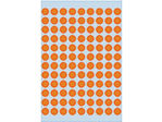 Afbeelding van Herma etiket rond, 8 mm, verpakking 540 stuks, 1844, fluor oranje