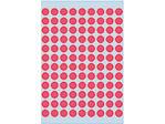 Afbeelding van Herma etiket rond, 8 mm, verpakking 540 stuks, 1846, fluor rood
