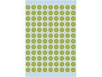 Afbeelding van Herma etiket rond, 8 mm, verpakking 540 stuks, 1848, fluor groen